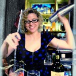 Dragonfly Sushi & Sake Company Bar Manager Kristin Amron making a drink.
