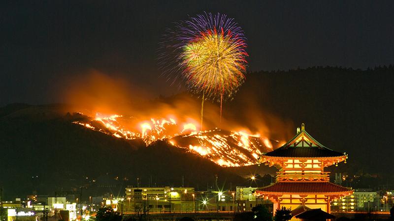 fireworks over japan