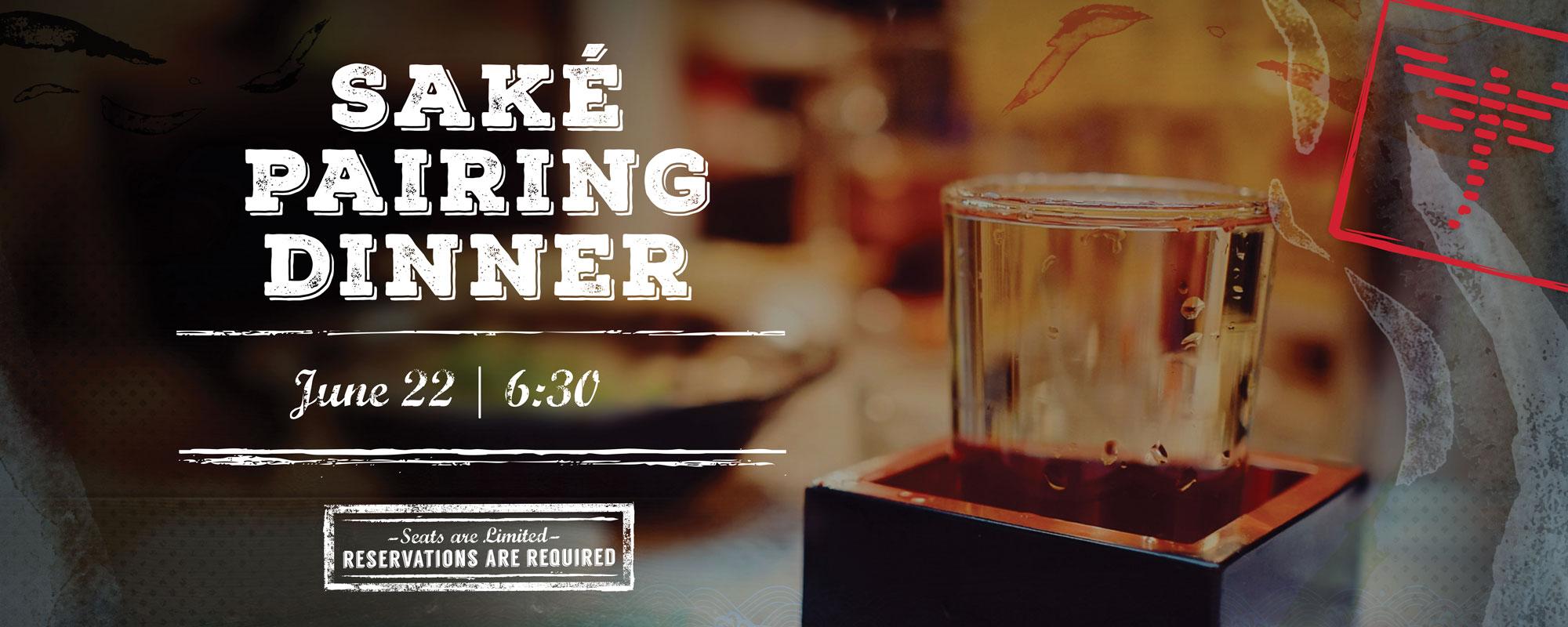Sake Pairing Dinner Header