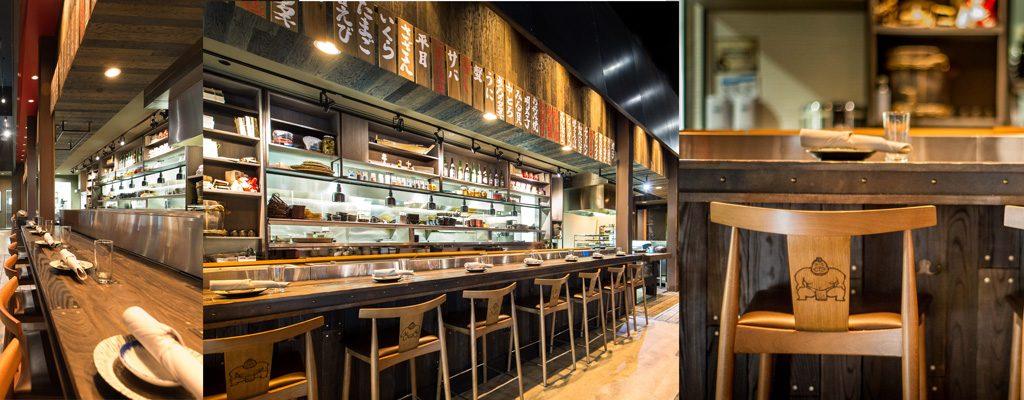 Private dining space iat the Sushi & Robata Bars at Dragonfly Izakaya & Fish Market.
