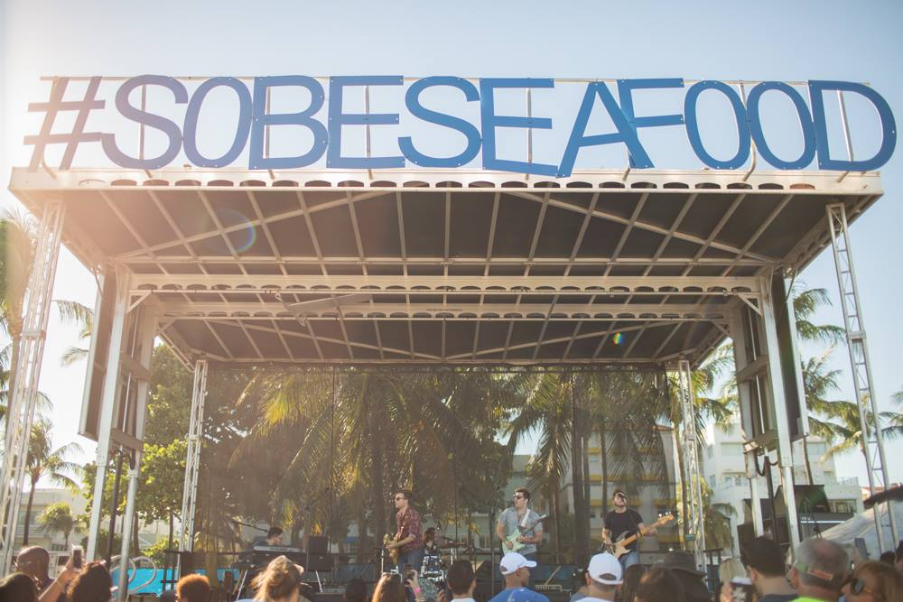 Image of the main stage at SOBE Seafood Festival