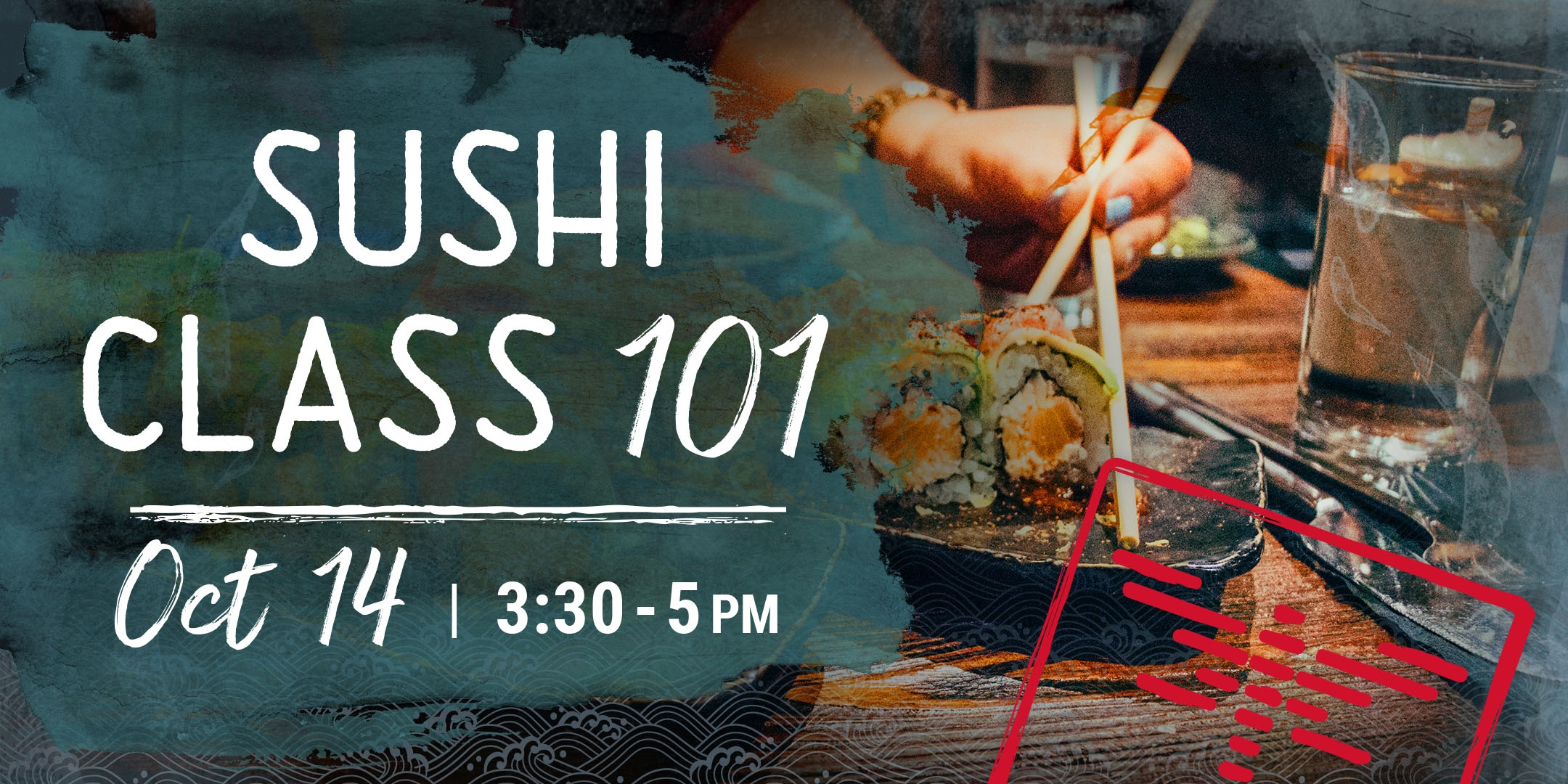Doral sushi class event header image.